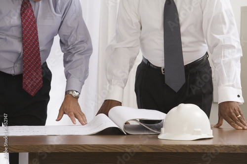 Two businessmen at a table