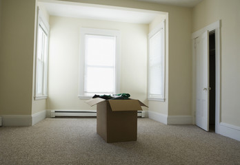 Empty house on moving day