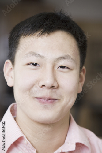 Portrait of an Asian teen boy