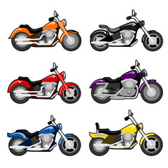 vector chopper motorcycle set