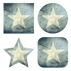 set of 4 grunge flag buttons of somalia