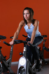 athletic young woman at fitnes traning