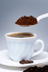 Spoon and Cup of coffee