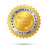 Warranty life time golden label poster