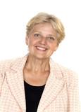 happy older pensioner woman portrait poster