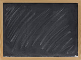 blank blackboard with chalk smudges poster