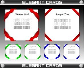 Elegant Card Set, Easily Editable.