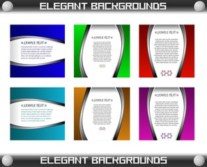 Elegant Colorful Card Template Background Set, Easily Editable.