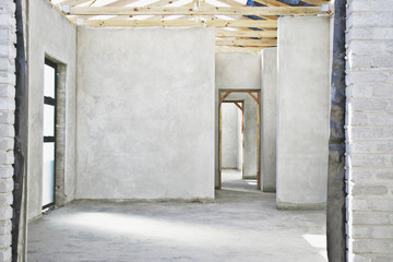 Interior of unfinished new home