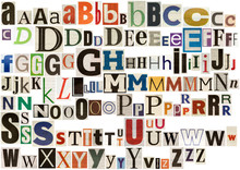 "Постер, картина, фотообои ""Colorful newspaper alphabet isolated on white"""