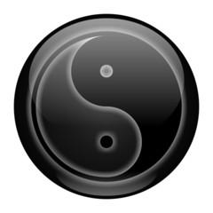 Yin-Yang Black Style Icon