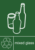 Recycling Sign Glass