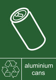 Recycling Sign Aluminium Cans