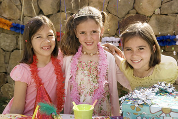 Young girls at birthday party