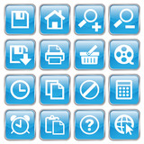 Web Buttons (Miscellaneous II) (blue; vector) (x16) poster