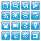Web Buttons (Miscellaneous I) (blue; vector) (x16) poster