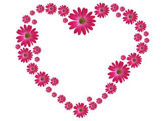 Blumenherz Pink Kontur