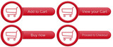 Red shopping cart buttons