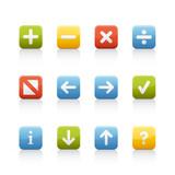 Fototapety Icon Set - Navigation Buttons