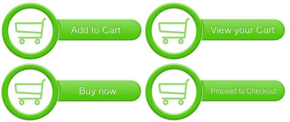 Green shopping cart buttons