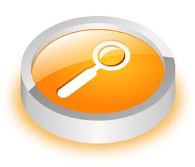 Button Suche orange