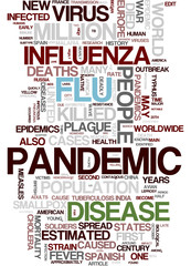 Flu Pandemic H1N1 word cloud
