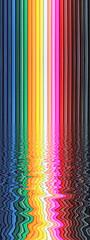 bandes colorées de crayons de couleurs