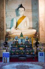 White Buddha image in Ayuttaya, Thailand
