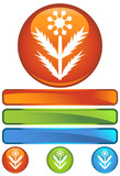 weed orange round poster