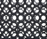 Black plastic circles poster
