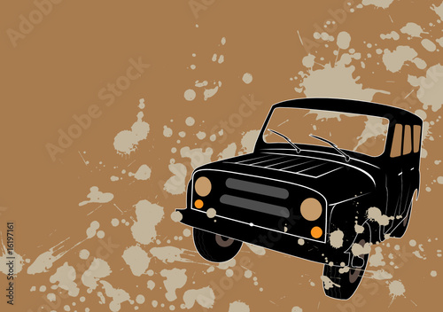 Mud splashes - 4x4 offroad concept background