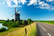 windmill landscape in Holland