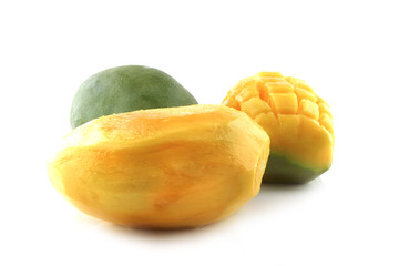 clear mango isolated