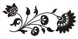 indian floral motif poster