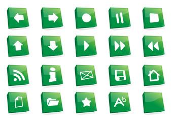 iconos estilo 3d cuadrados