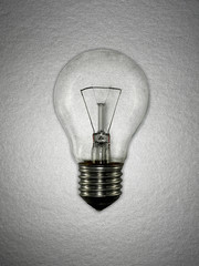 Close up of incandescent lightbulb