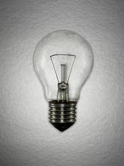 Close up of incandescent lightbulb
