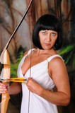 Lovely Greek Goddess Archer poster