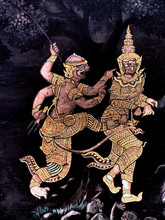King Palace - murais Ramayana nb.33