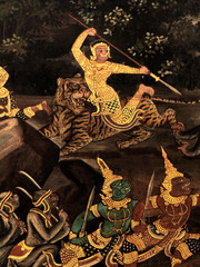 King palace - Ramayana murals nb.30