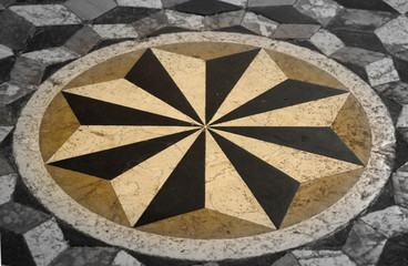 christian mandala on christian church - Riva del Garda Italy