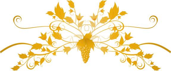 ornate grape flourish