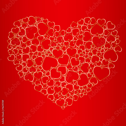 Valentine seamless background. Vector illustration