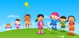 Fototapety Kids Playing outside