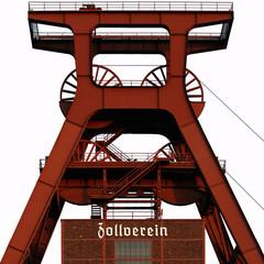 Förderturm der Zeche Zollverein in Essen, Welterbe