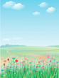Spring meadow, vector.