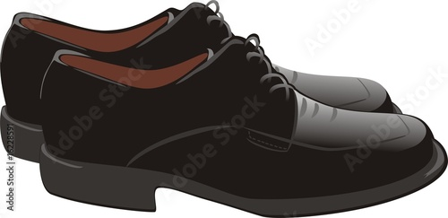 Masculine shoes. Vector poster