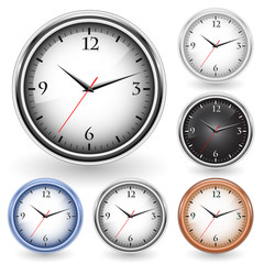collection of office clocks