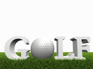golf concept on green gras