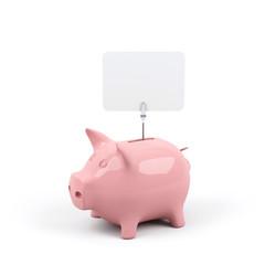 Piggy bank. 3d image.